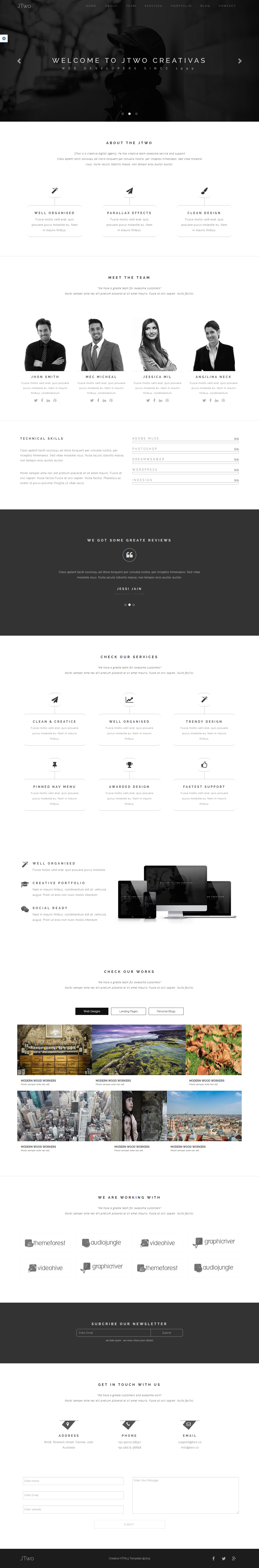 jTwo - One Page Parallax Template - 1